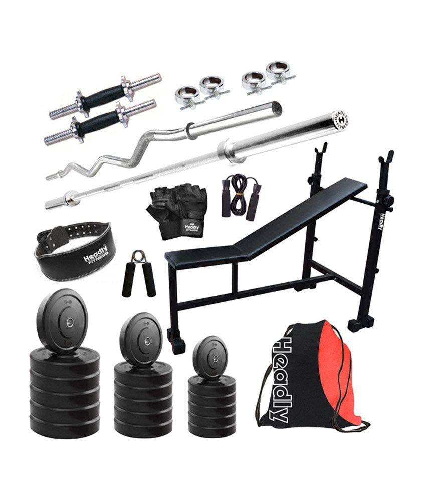 Headly kg home gym with inch dumbbells in i d
