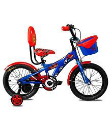 Hero Disney 16T Spiderman Junior Cycle with Carrier - Blue