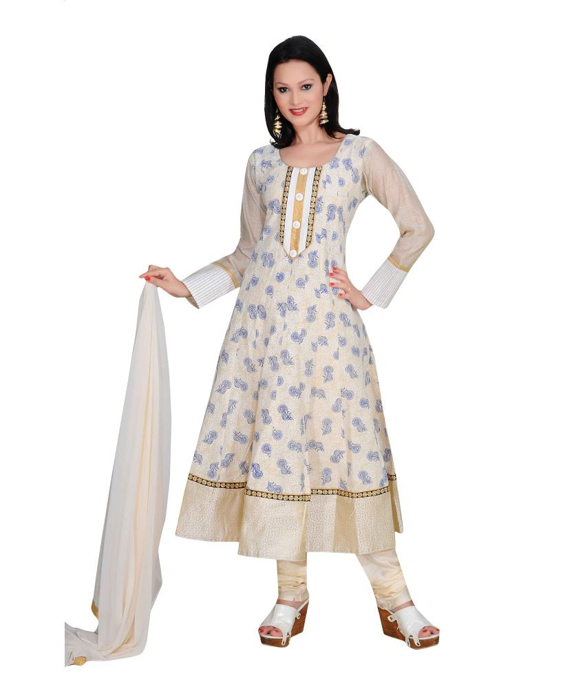 Ajahara Blue Cotton Stitched Suit