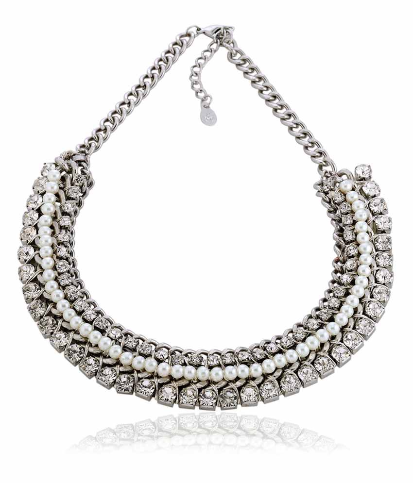 Kiosha Silver Alloy Contemporary Necklace