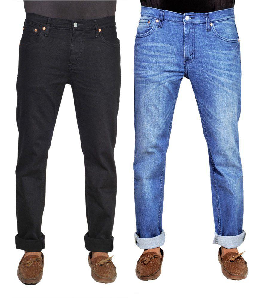 Levis Multicolour Cotton Slim Fit Jeans - Pack of 2