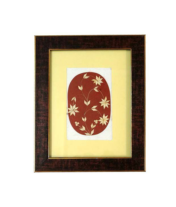 R S Jewels Handmade Paper Painting Wooden Flowers Designs