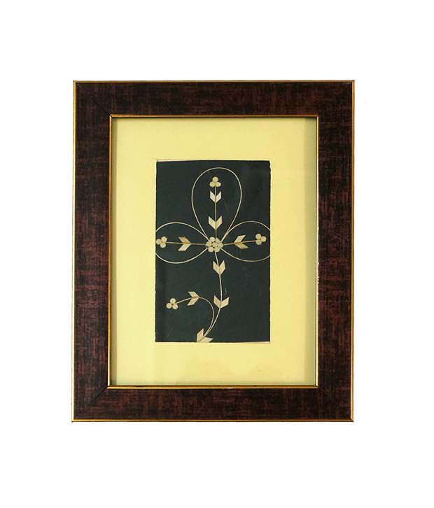 R S Jewels Paper Painting Flora Designs With Frame