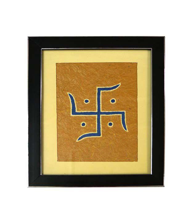 R S Jewels Swastika Symbol On Paper Painting