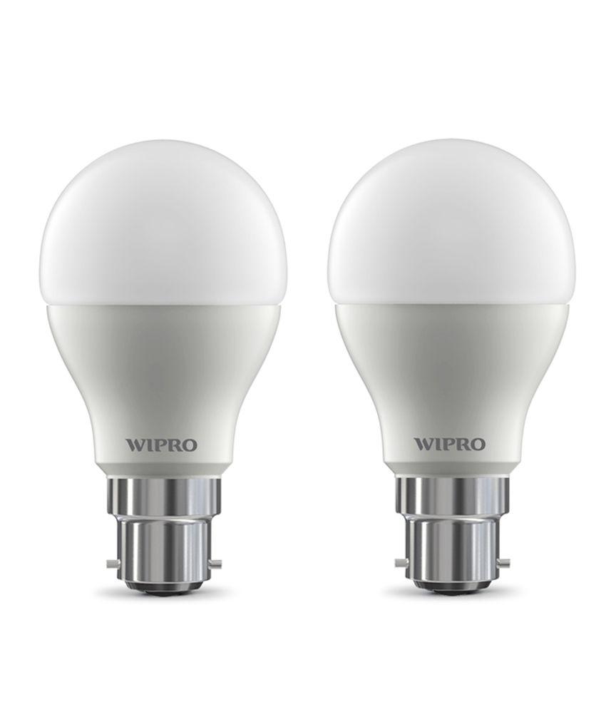 Wipro-(pack-Of-2)-9w-Led-Bulb-6500k-(cool-Day-Light)