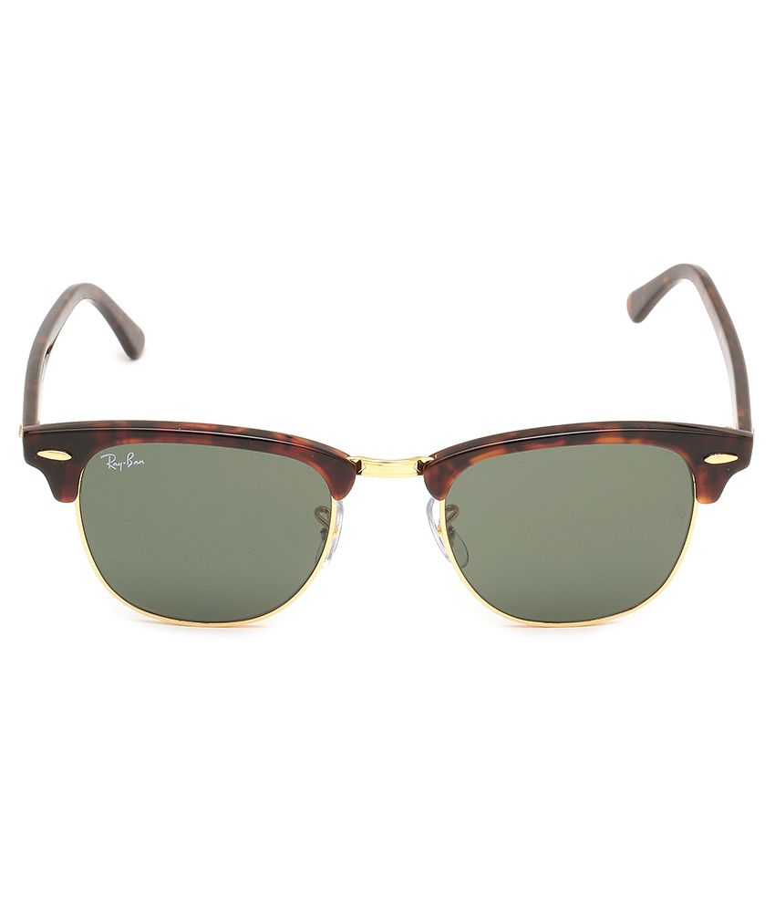 ray ban sunglasses buy online  ray ban green clubmaster sunglasses (rb3016 w0366 51 21)