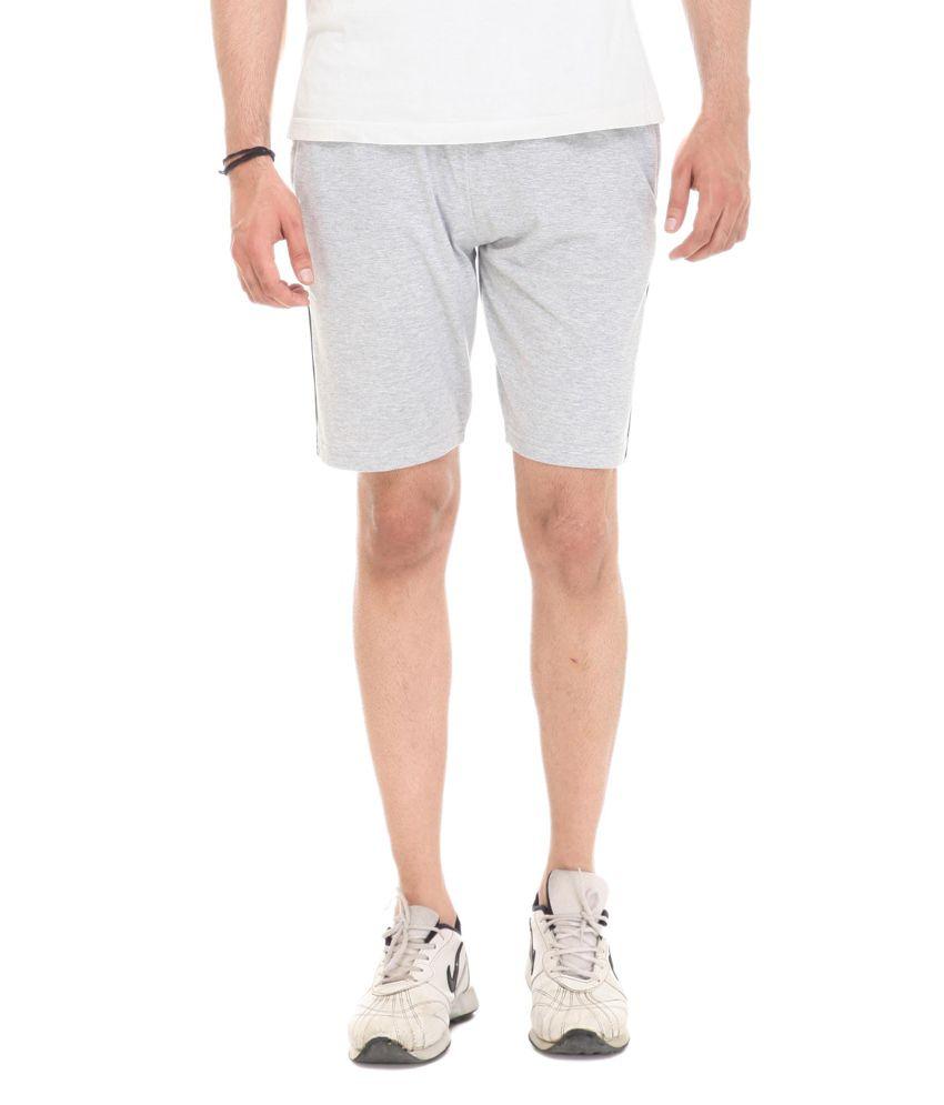 Colors & Blends Gray Cotton Blend Shorts
