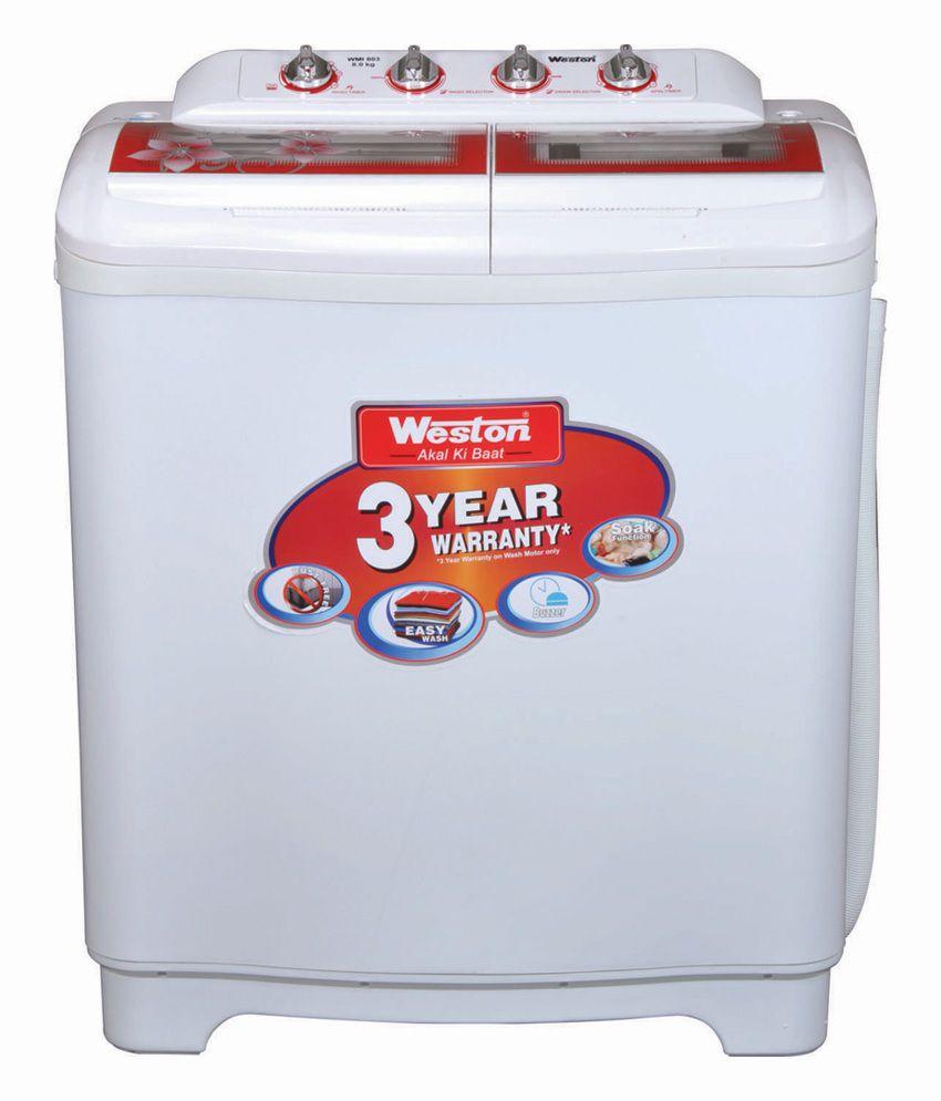 WESTON WMI-803T 8KG Semi Automatic Top Load Washing Machine