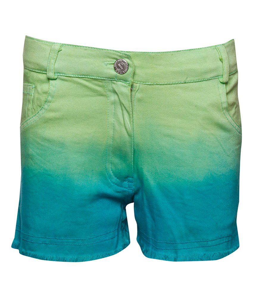 Joshua Tree Urban Traveller Green Ombre-Dyed Shorts