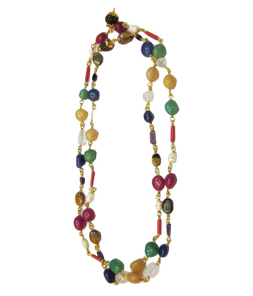 Vinayak Multicolour Traditional Nine Gems Navaratan Necklace