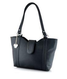 Butterflies Black P.u Shoulder Bags