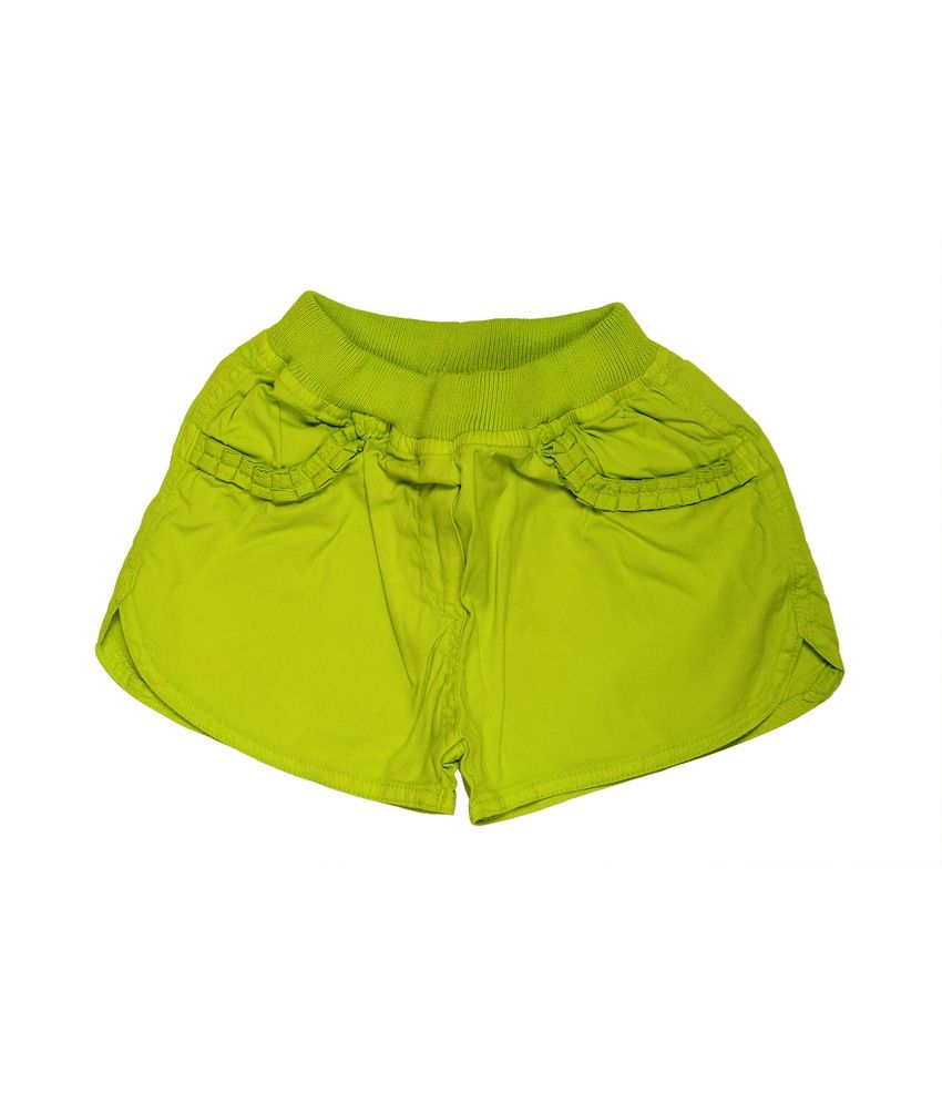 Catapult Girls Lime Green Cotton Shorts