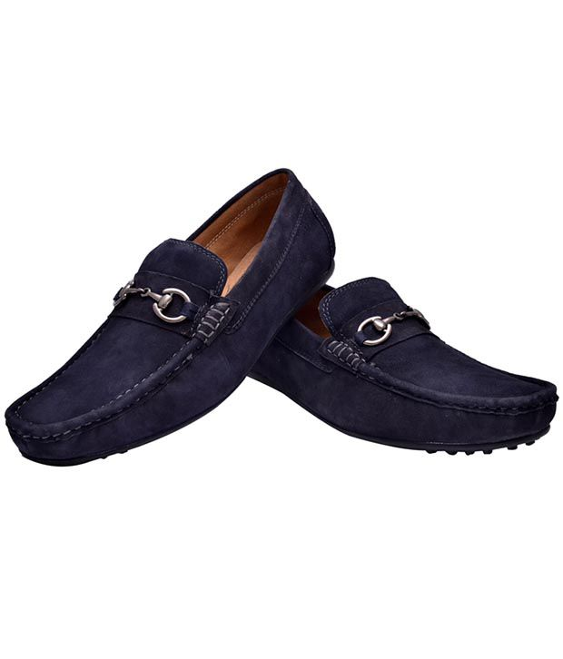 Hirel's Blue Loafers Casual Shoes