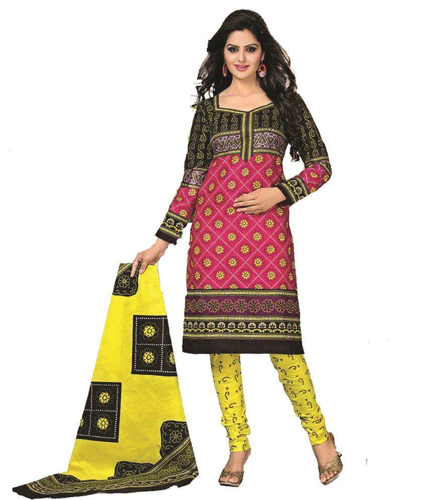 Kamini Rajesh Gorasia Multi Cotton Dress Material