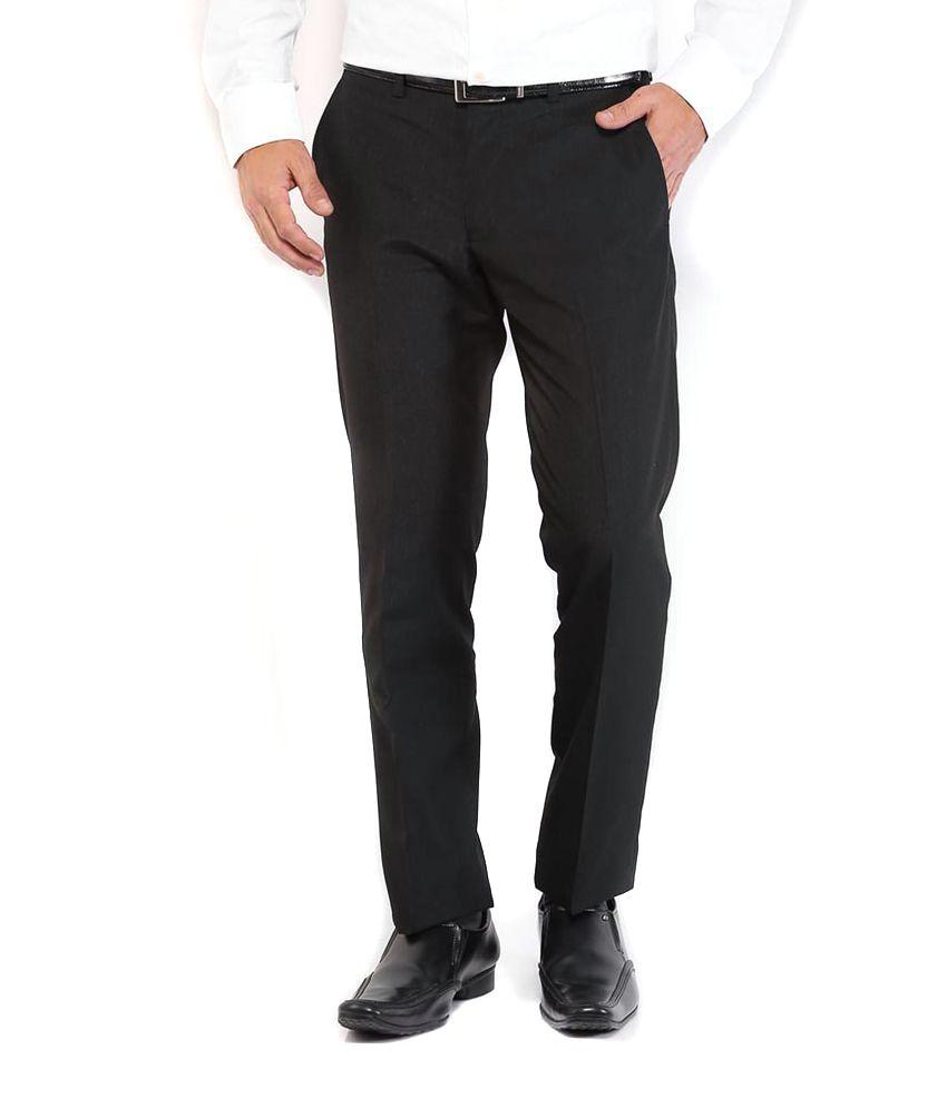 Leisuretime Marketing Pvt Ltd Black Formal Premium Smart Trouser - Pack Of 4