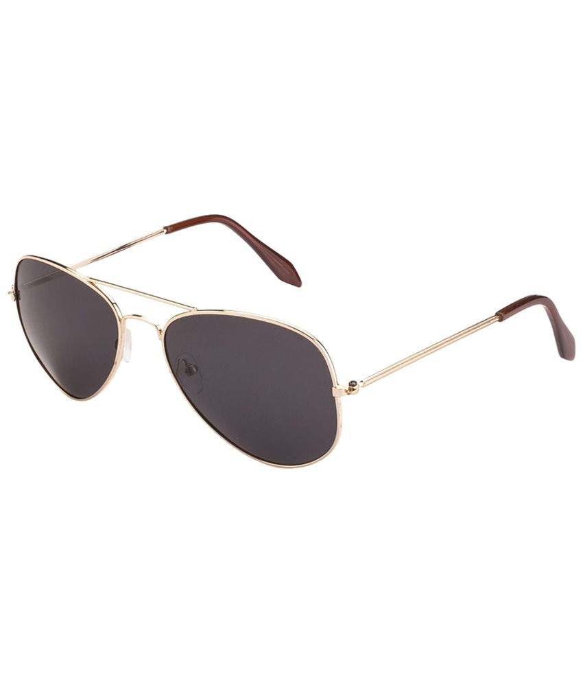 ae9d0e6ba1 Mask Cool Golden   Gray Polarized Unisex Aviator Sunglasses - Buy Mask Cool  Golden   Gray Polarized Unisex Aviator Sunglasses Online at Low Price -  Snapdeal