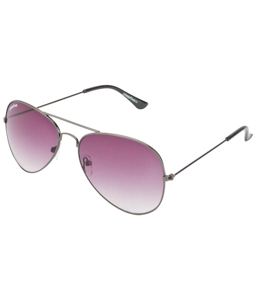 O Positive Nice Looking Silver & Gray Unisex Aviator Sunglasses