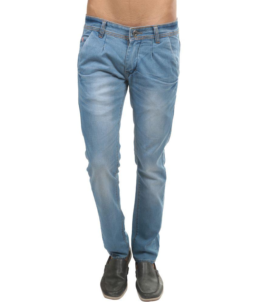 Picador Blue Cotton Basics Slim Jeans