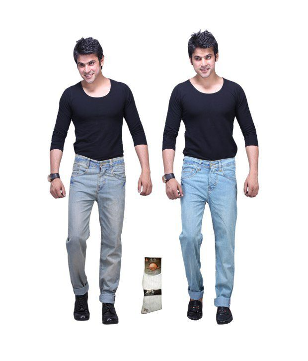 X-cross Multi Regular Jeans For Men - Pack Of 2