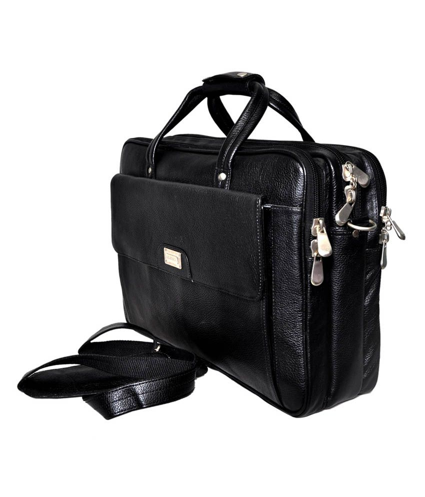 Bag Jack Eridanus Black Leather Office Messenger Bag