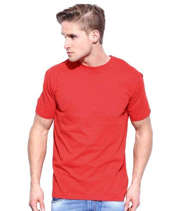 Muthurathinam P Red Cotton Round Neck T Shirt