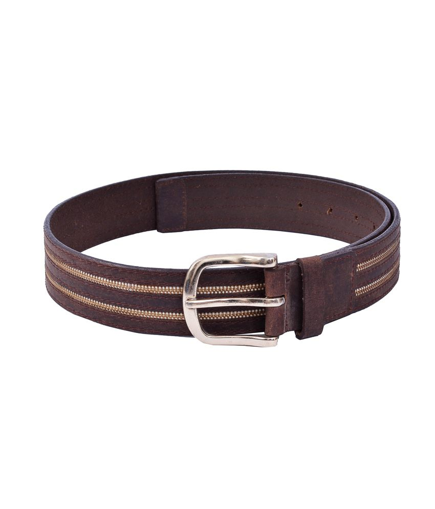 Leatherwood Brown Leather Pin Buckle Casual Belt