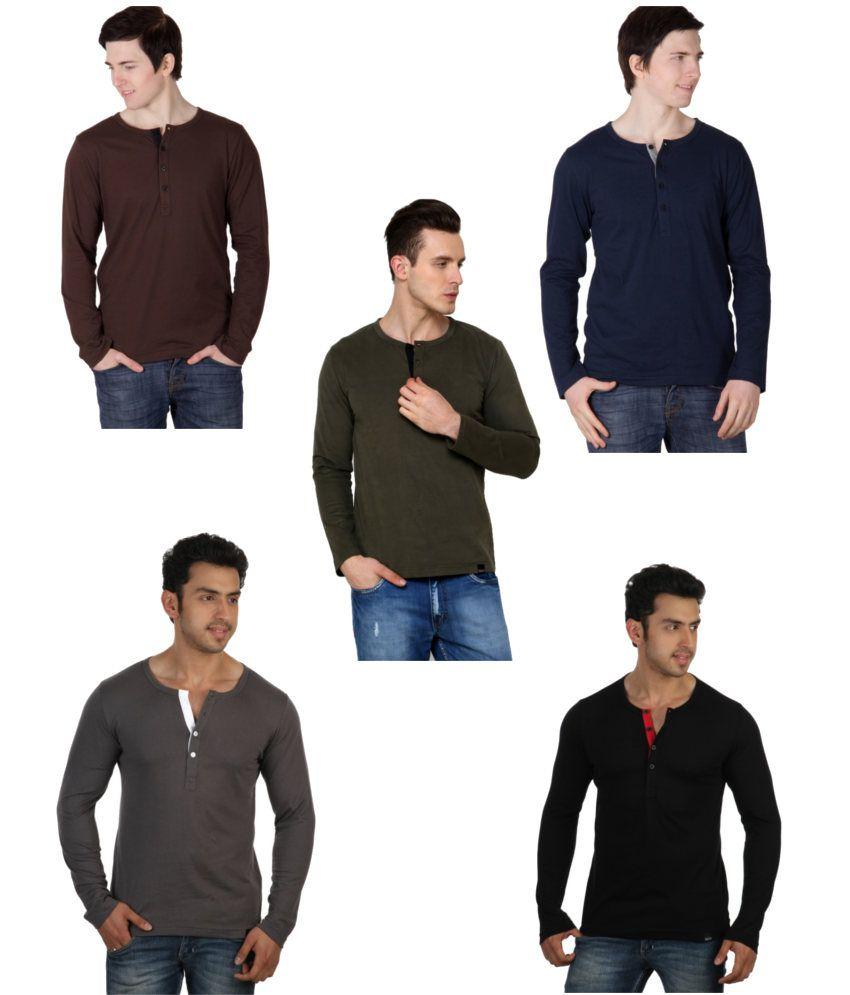 Rigo Combo Of 5 Cotton T-shirts