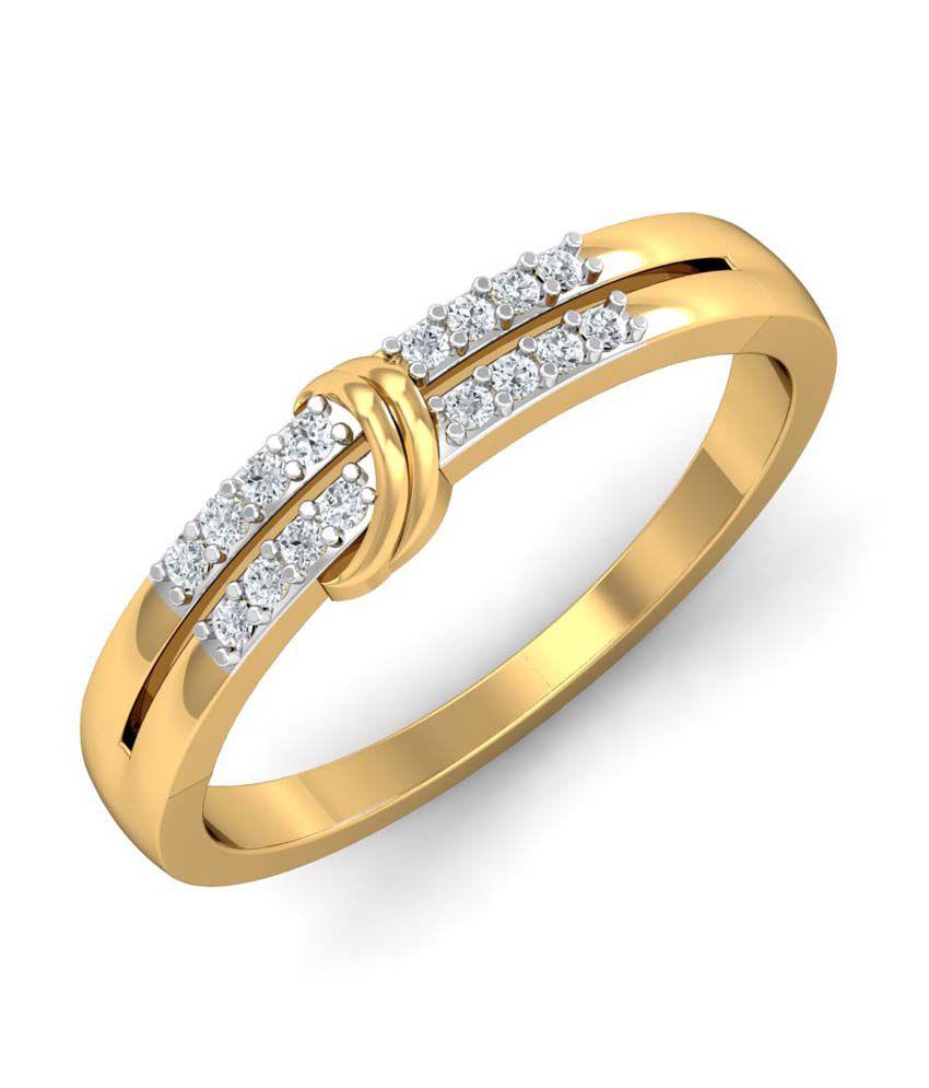 Kamakhya Jewels 18Kt Diamond Band Ring