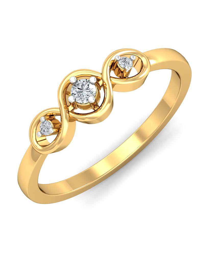 Kamakhya Jewels 18Kt Diamond Daily wear Ring