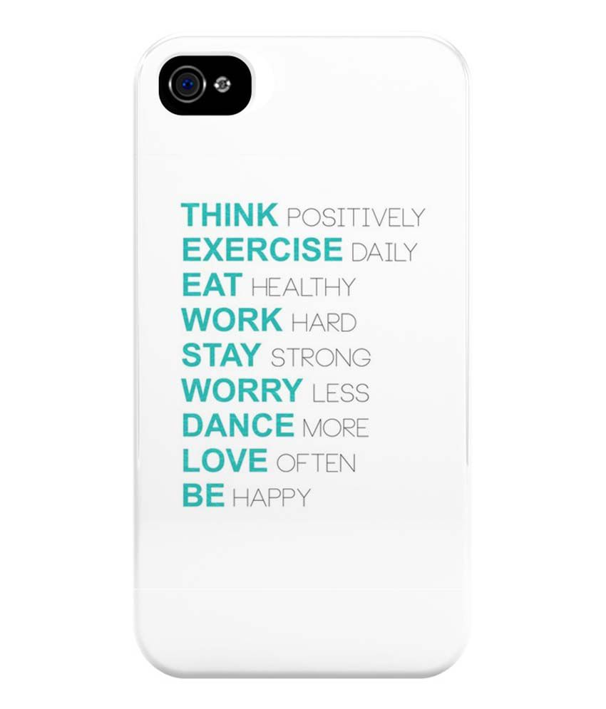 best service 1fa43 3fd26 The Fappy Store Positive Thoughts Back Cover Case For Apple iPhone 4 ...