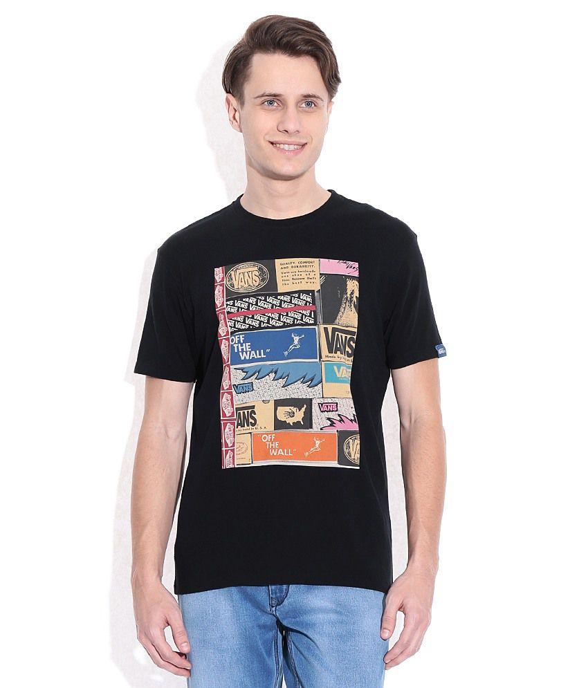 Vans Black Men T-Shirt