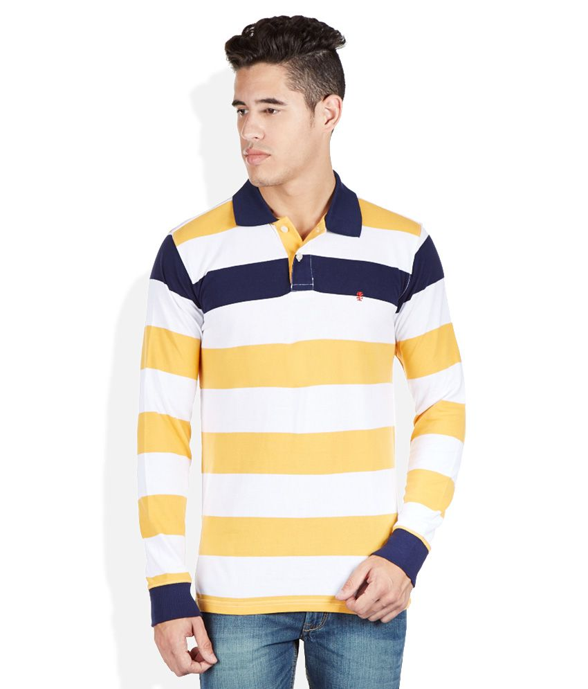 Izod Yellow Round Neck T Shirt