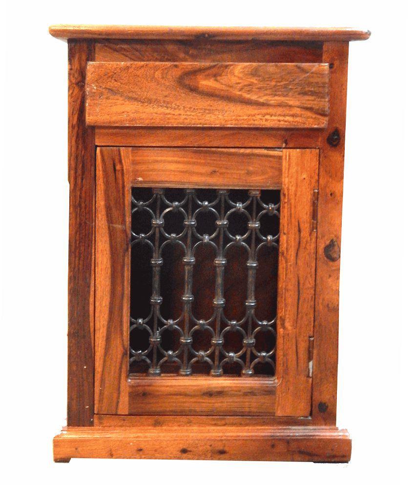 Poyi Sheesham Wood Side Table