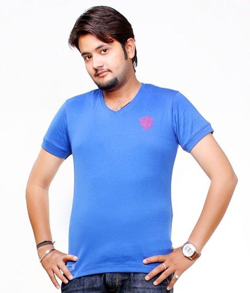 SG Blue Half T- Shirt For Boy