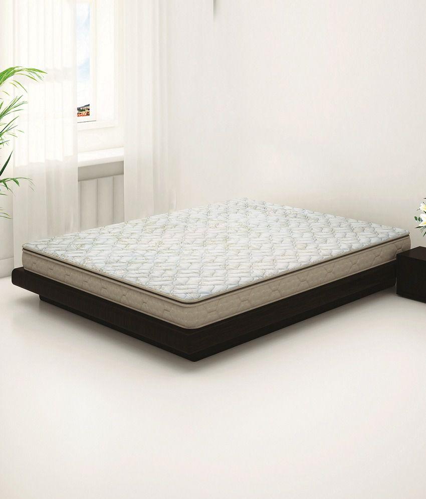 sleepwell duet luxury foam double mattress 78x66x5 inches buy