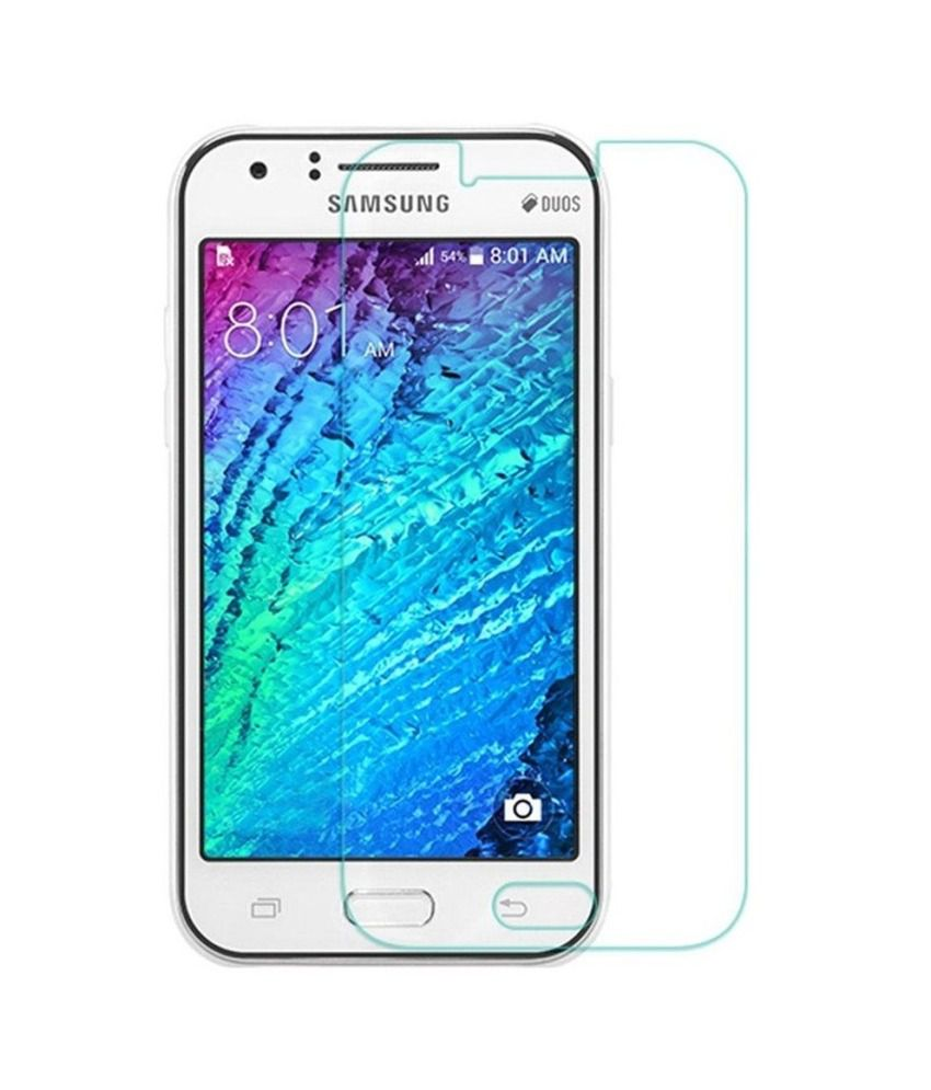 Samsung Galaxy J1 Tempered Glass Screen Guard by Heartly