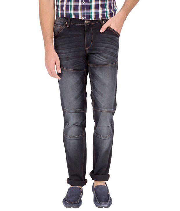 River Nation Dark Grey Slim Fit Denim Men's Jeans