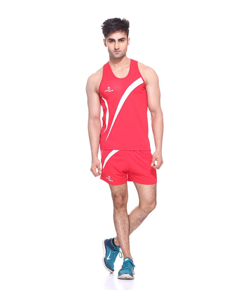 Sport Sun Sportswear Red Running /Athletic Set Combo