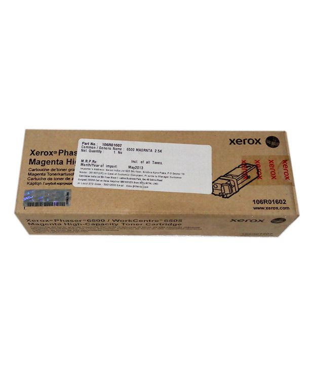 Xerox Toner Cartridge Magenta 106r01602 For Phaser 6500 / Workcenter 6505