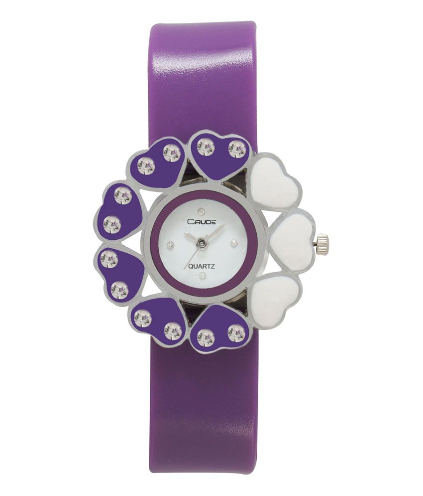 Crude Purple Analog Round Casual Watch