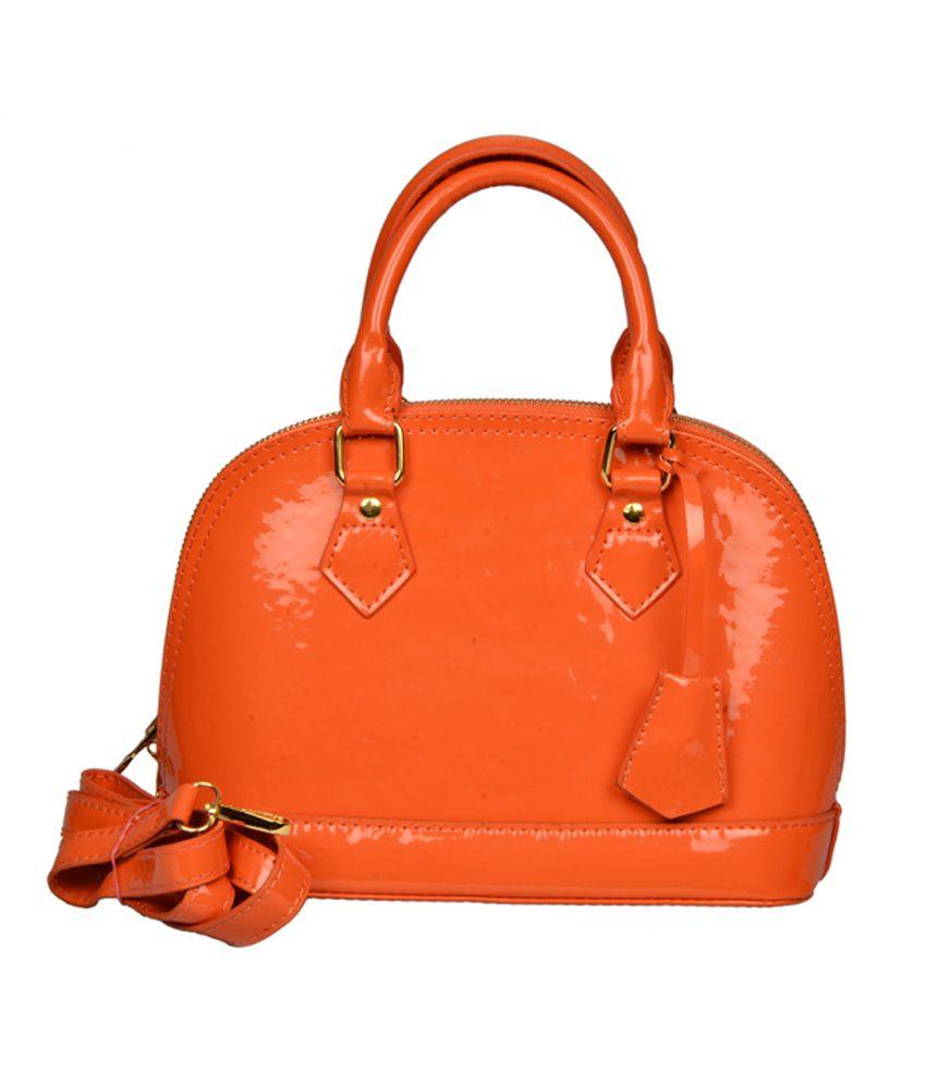 BH Wholesale Market Designer, Imported & Fashionable PU Leather Shoulder Bag For Women (Orange)