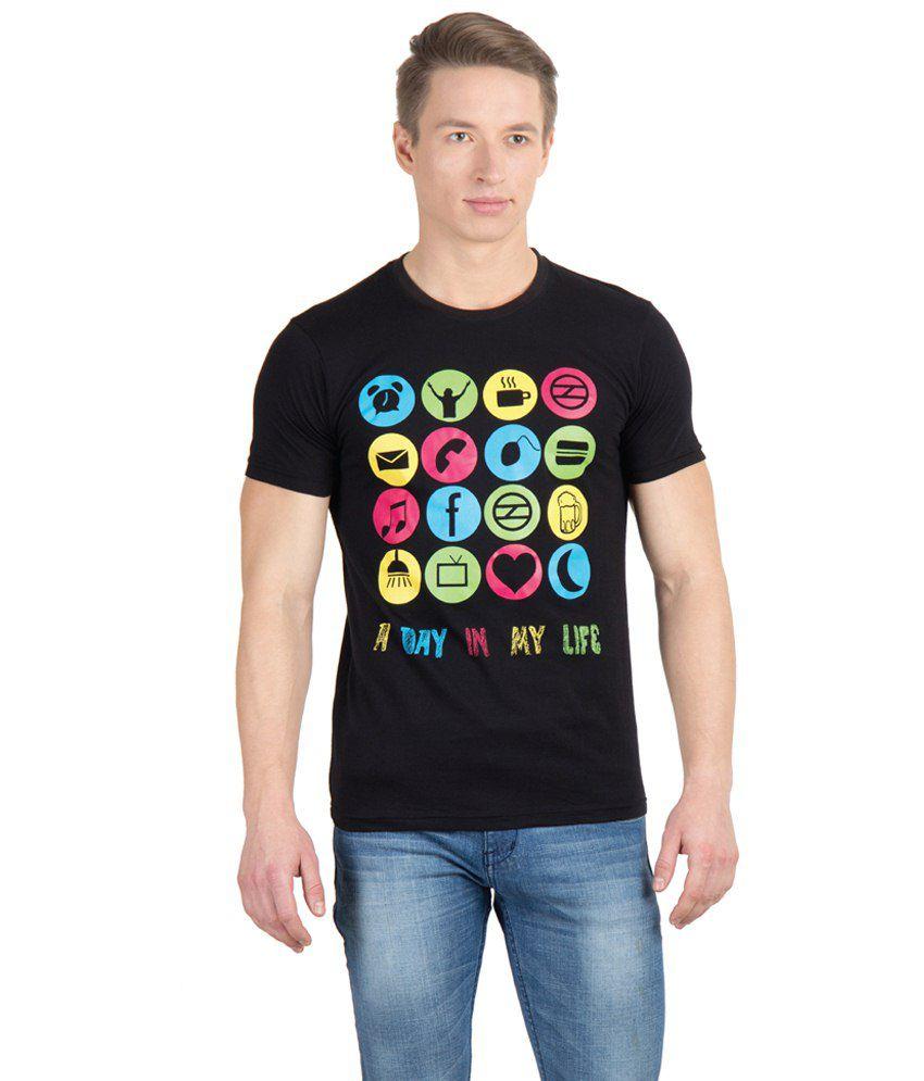 Gabi Black Cotton T Shirt