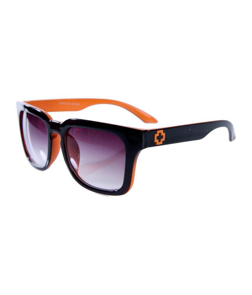 Elijaah Orange Wayfarer Stylish Sunglasses