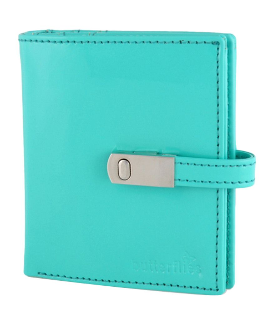 Butterflies Turquoise PU Wallet for Women