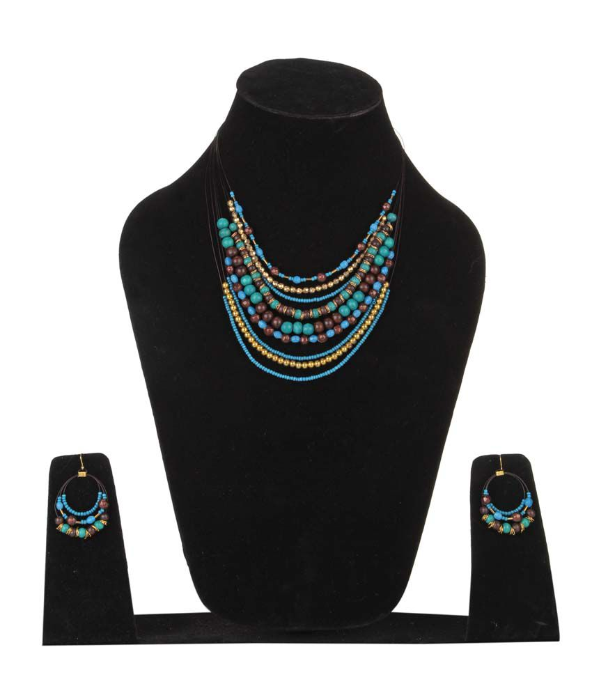 DCA Multicolor Contemporary Casual Hit Daily Wear Necklace Set