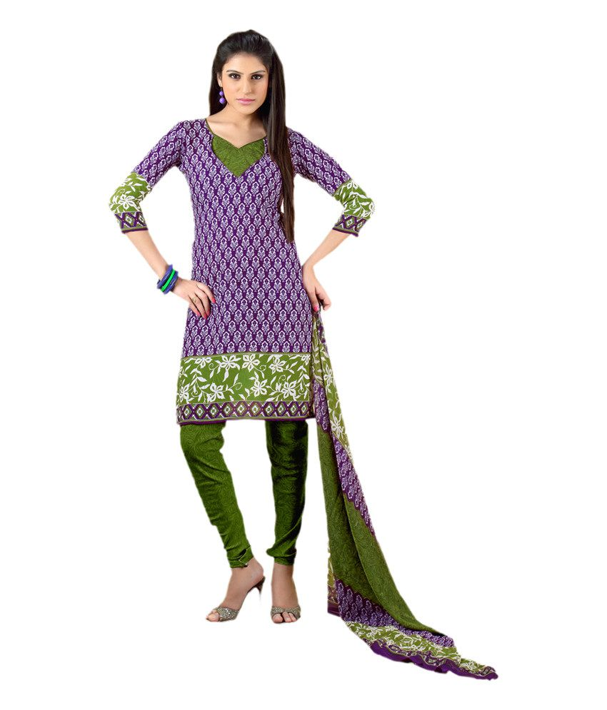 Jiya Multicoloured Art Crepe Dress Material