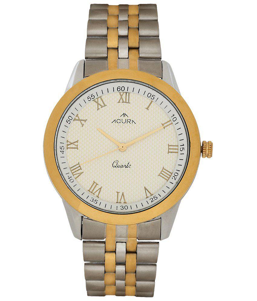 Acura Golden Metal Wrist Watch