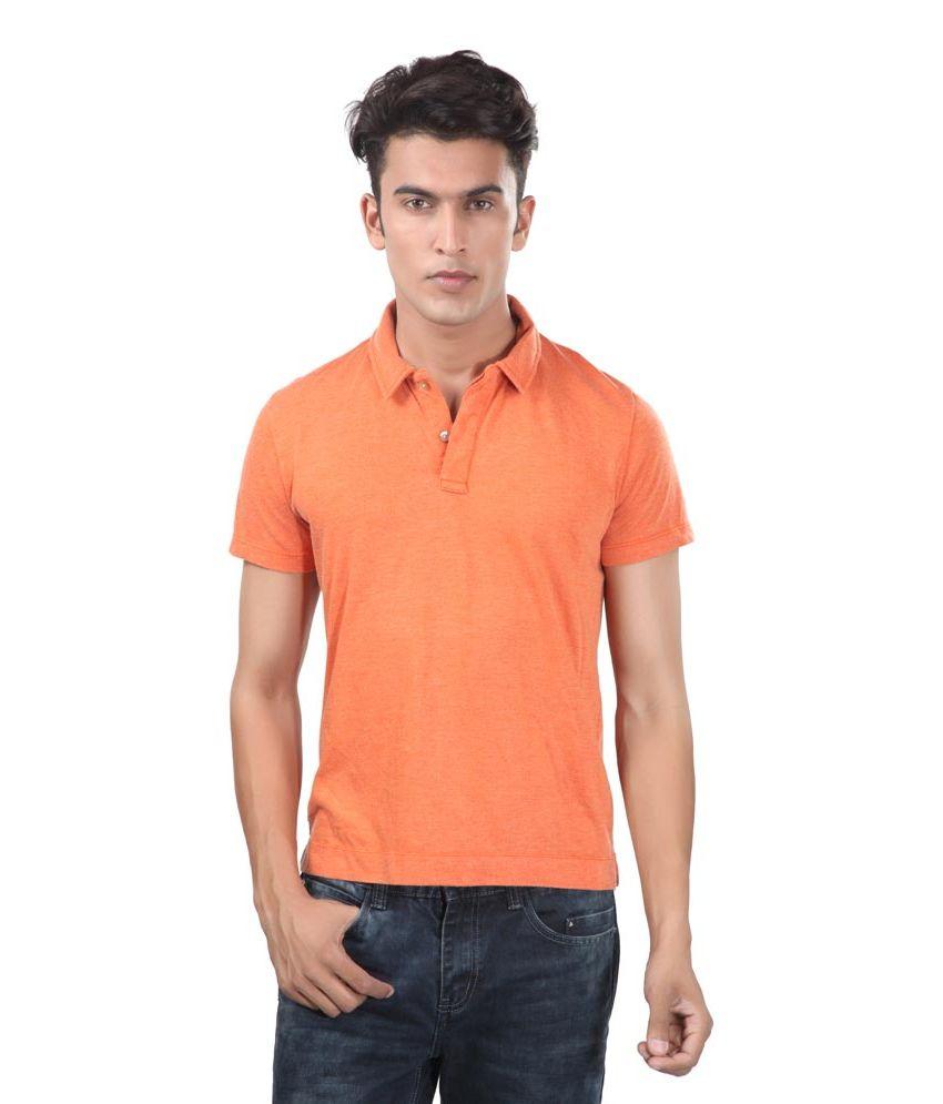 Uni Style Image Orange Cotton T-Shirt