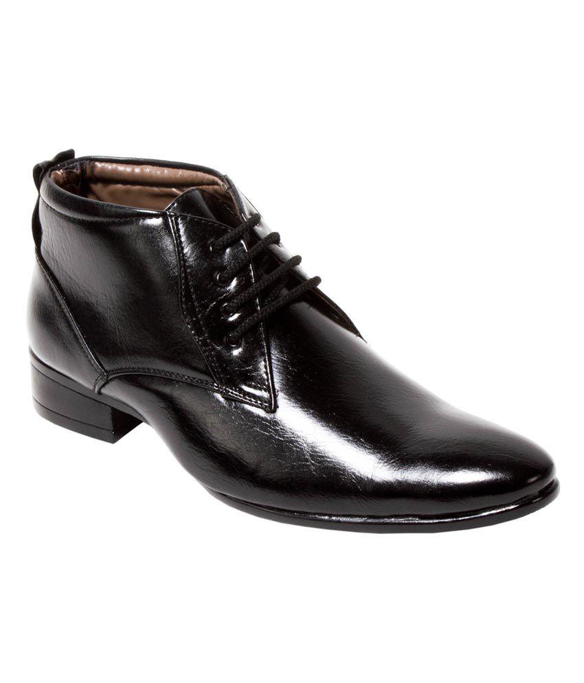 1de2ea7c58 Alligators Black Formal high Ankle Shoes For Men Price in India- Buy  Alligators Black Formal high Ankle Shoes For Men Online at Snapdeal