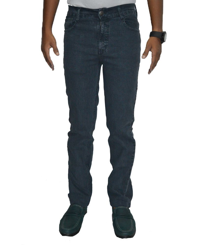 Benz Gray Cotton Regular Fit Jeans